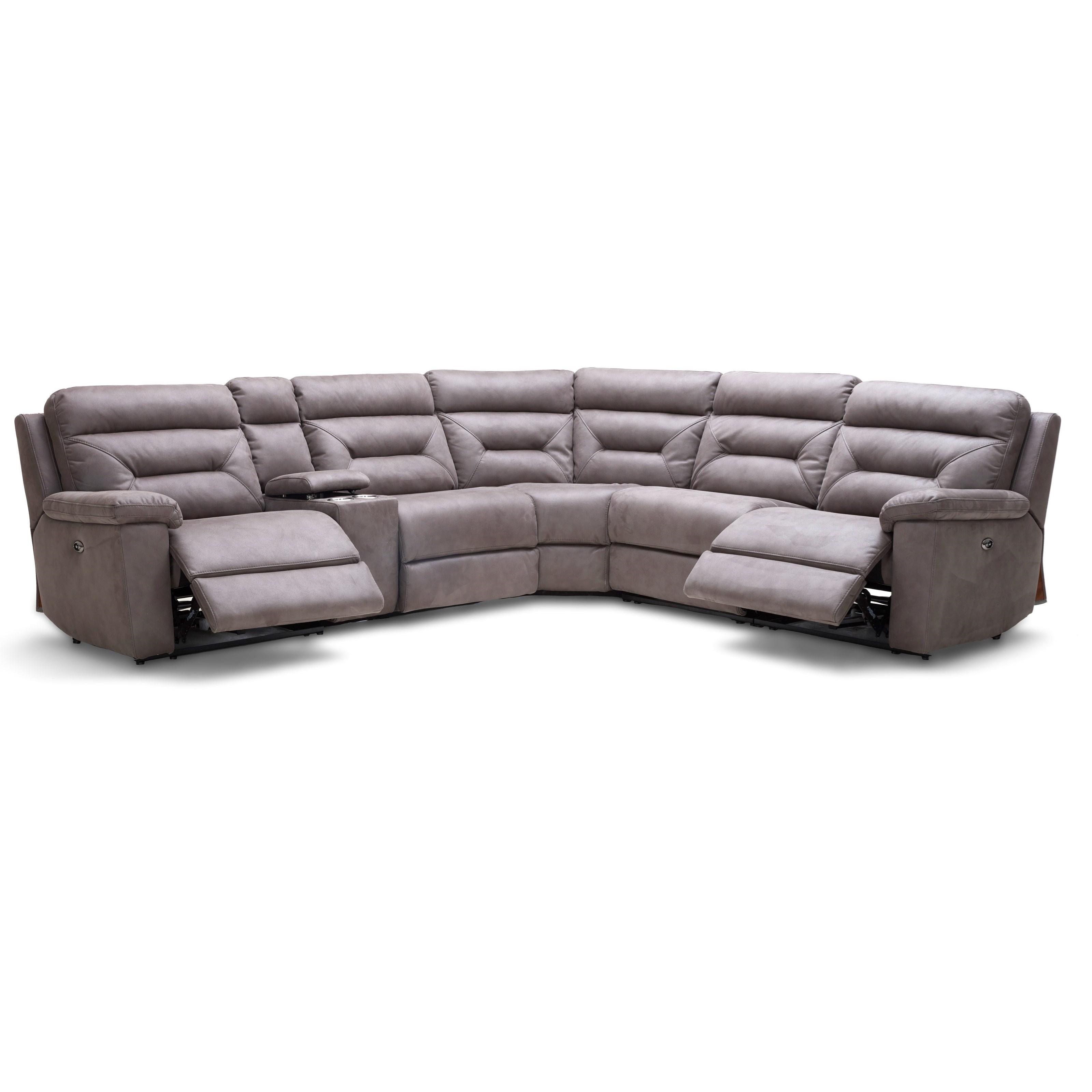kuka home km012 six piece reclining sectional sofa with cupholder rh wilsonhomefurnishings com