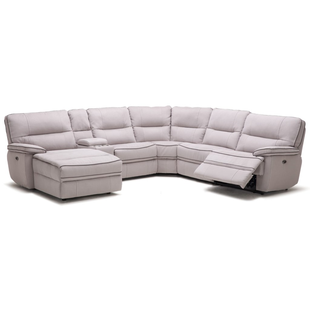 Kuka Home KM019 Six Piece Reclining Sectional Sofa with Cupholder