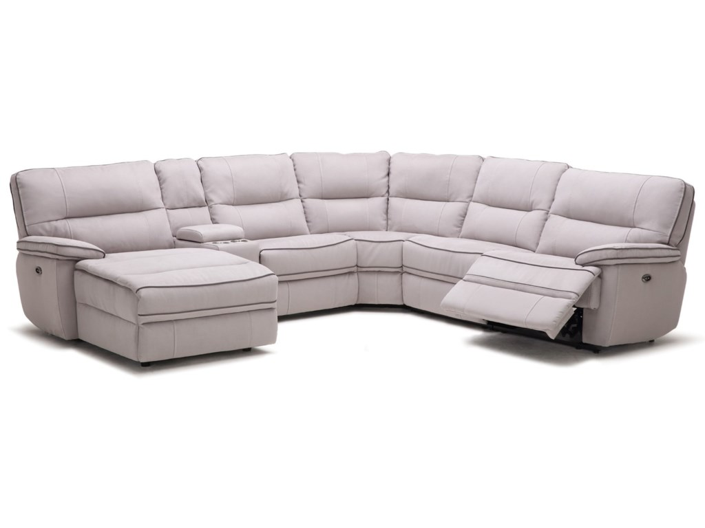 Kuka Home Km019 Six Piece Power Reclining Sectional Sofa With
