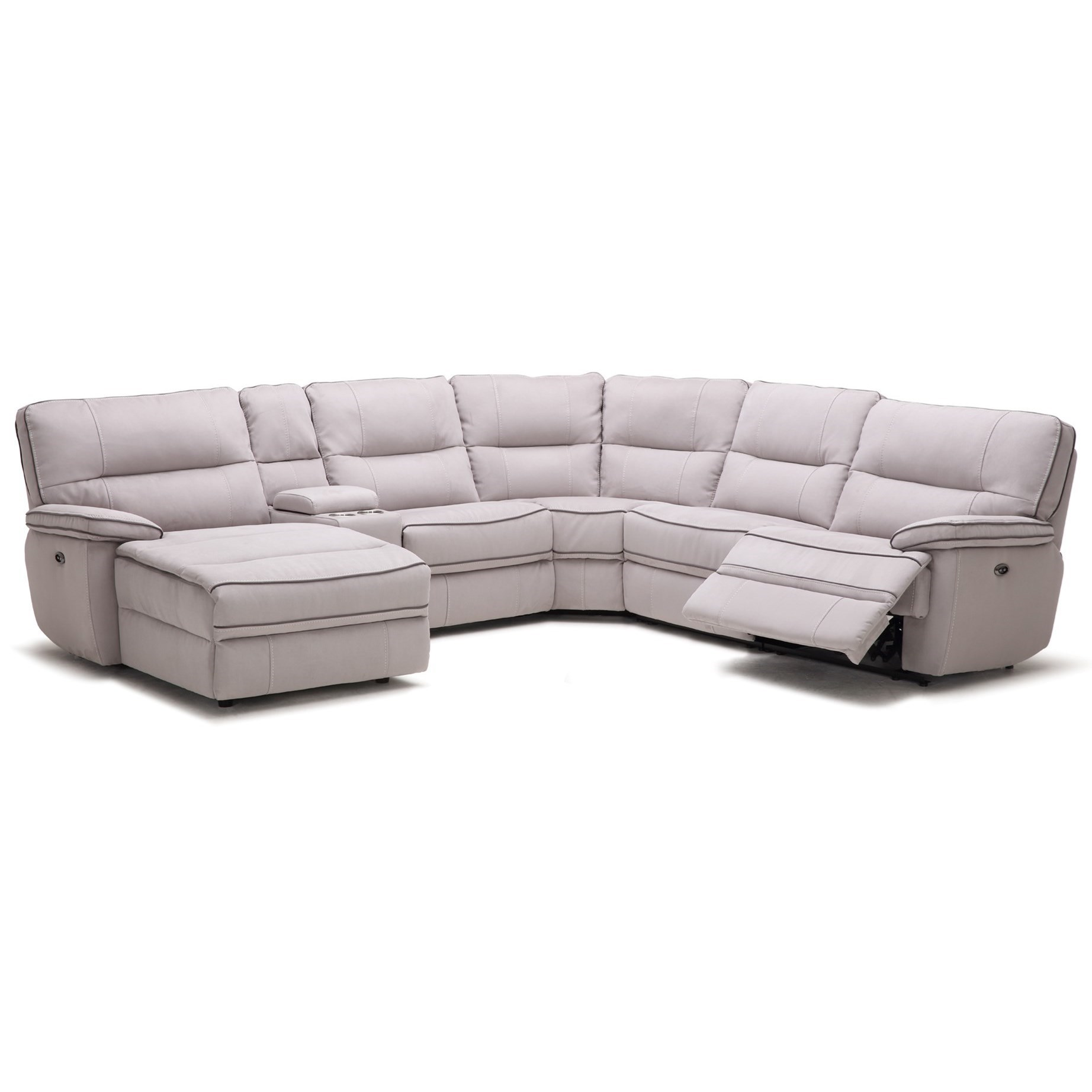 KM019 Six Piece Power Reclining Sectional Sofa with Cupholder Storage Console by Kuka Home  sc 1 st  Becku0027s Furniture & Kuka Home KM019 Six Piece Power Reclining Sectional Sofa with ... islam-shia.org