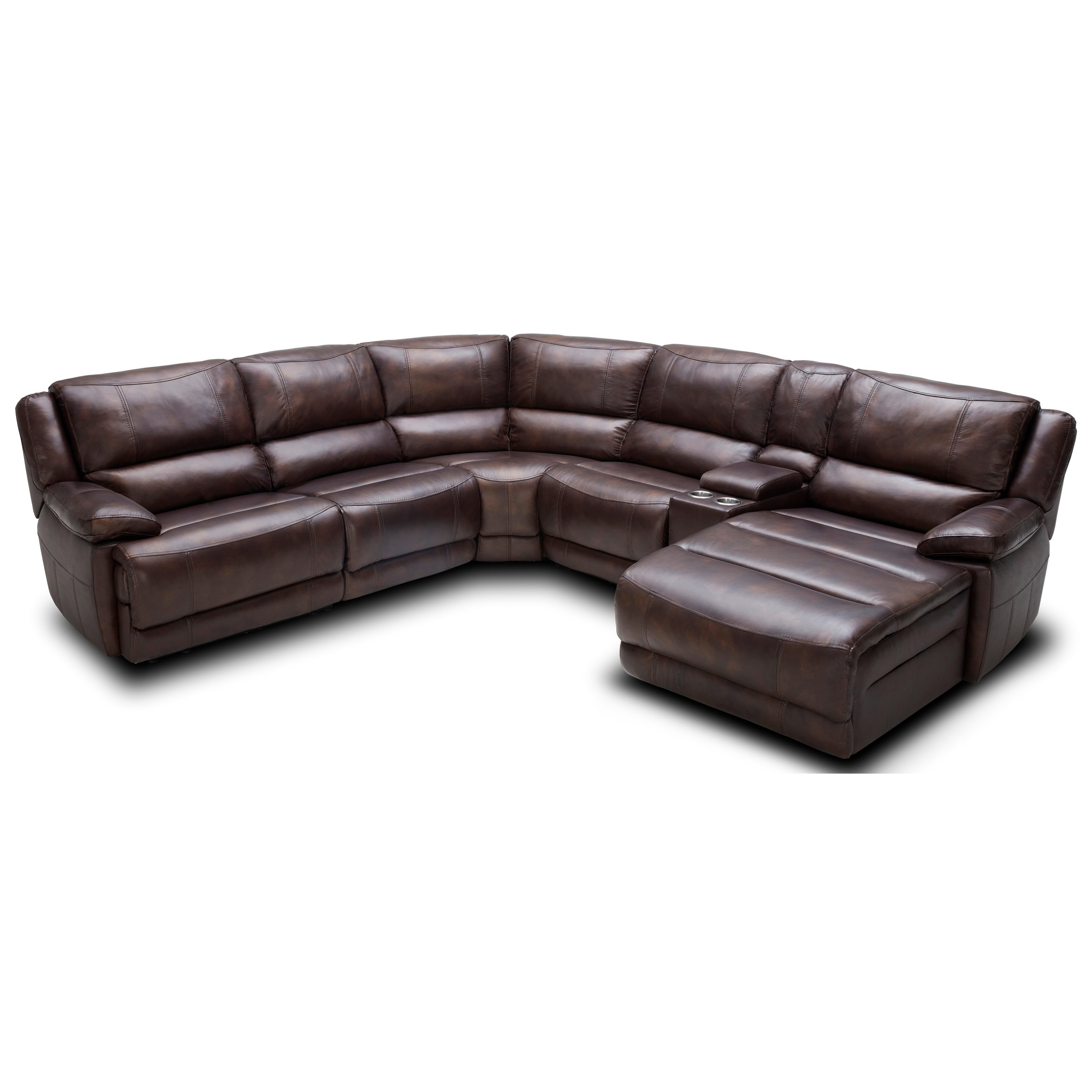 Kuka Home KM028 Six Piece Reclining Sectional Sofa with Cupholder Storage Console - Becku0027s Furniture - Reclining Sectional Sofas  sc 1 st  Becku0027s Furniture & Kuka Home KM028 Six Piece Reclining Sectional Sofa with Cupholder ... islam-shia.org