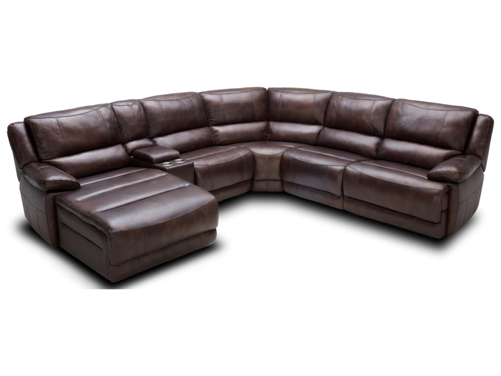 Kuka Home KM028 Six Piece Power Reclining Sectional Sofa with ...