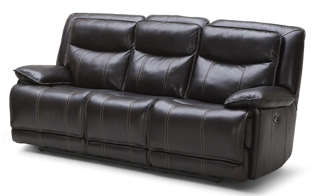 Kuka Home KM030 Casual Power Reclining Sofa W/ Three Recliners   Becku0027s  Furniture   Reclining Sofas