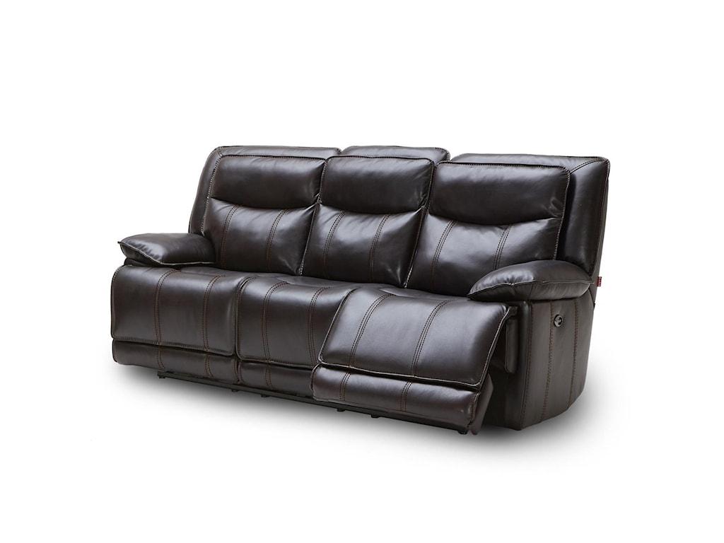 Kuka Home KM030Reclining Sofa w/ Three Recliners