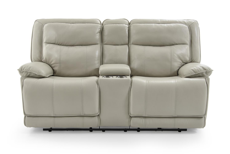 Kuka Home KM030 Casual Power Reclining Loveseat With Drink Storage Console    Baeru0027s Furniture   Reclining Love Seats