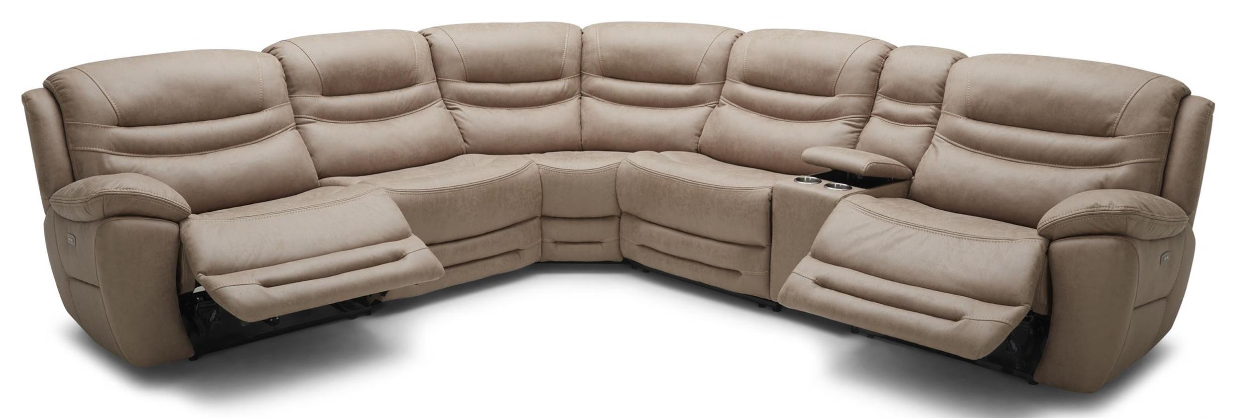 kuka home km083 six piece reclining sectional sofa with cupholder rh wilsonhomefurnishings com