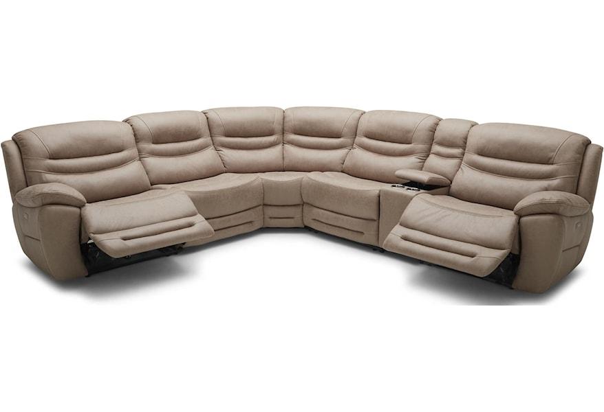Kuka Home KM083 Six Piece Reclining Sectional Sofa with ...