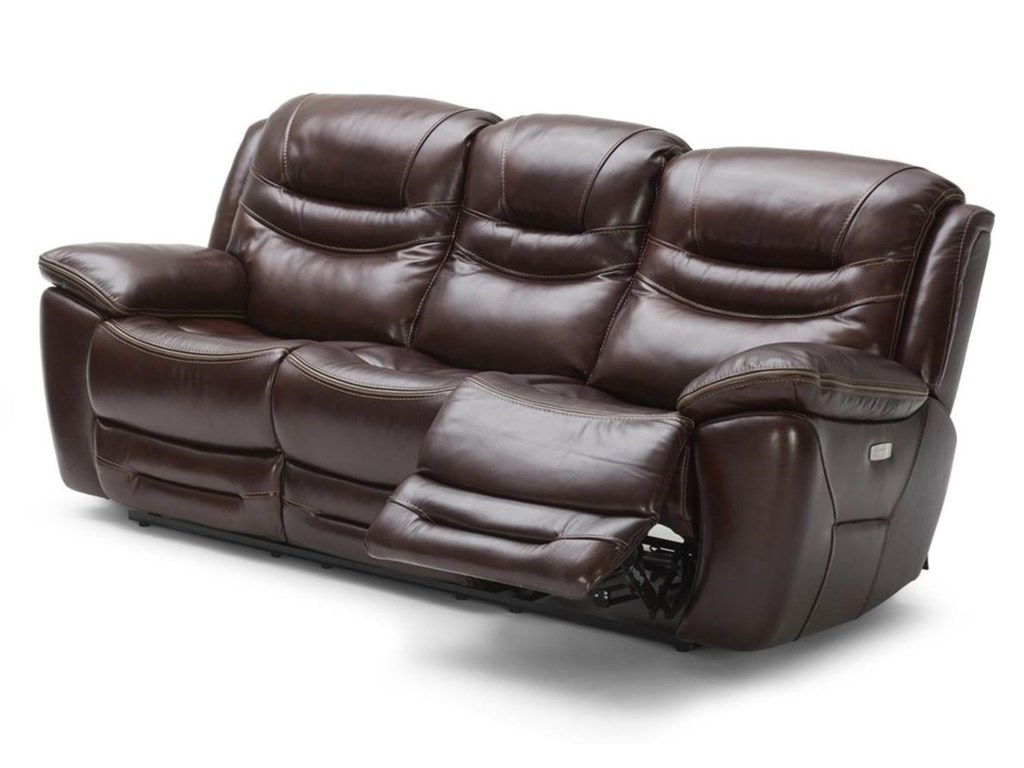 KM083 Casual Power Reclining Sofa with Power Headrests and USB Ports by  Kuka Home at Beck\'s Furniture