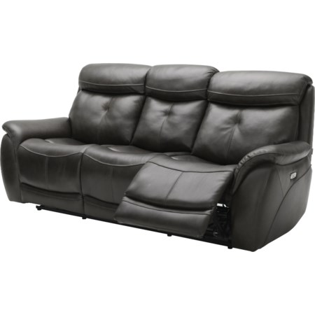 Dual Reclining Leather Sofa