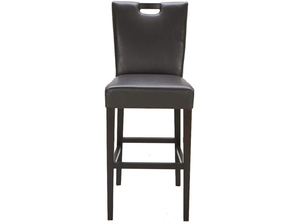 Urban evolution urban stoolsbrighton brown leather bar stool