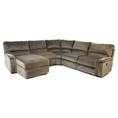 La-Z-Boy ASPEN Reclining Sectional w/ Reclining Chaise
