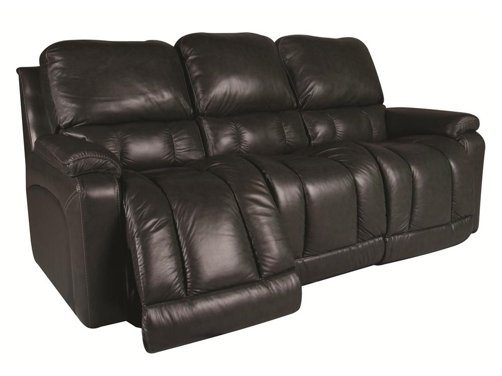 Greyson Leather Reclining Sofa by La-Z-Boy at Morris Home