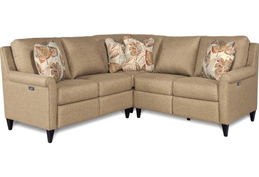 La-Z-Boy Abby Three Piece Power Reclining Sectional Sofa ...