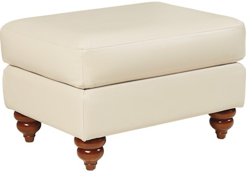 La-Z-Boy Aberdeen Traditional Ottoman with Turned Feet