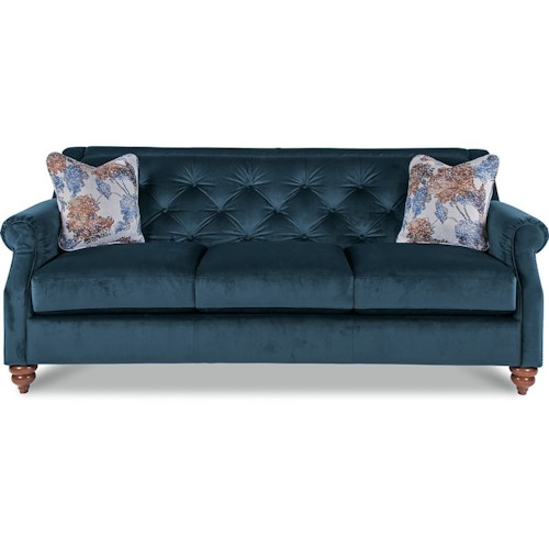 La Z Boy Aberdeen Traditional Sofa With Tufted Seatback