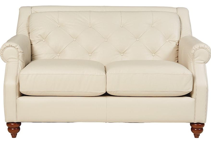 La Z Boy Aberdeen Traditional Loveseat With Tufted Seatback Jordan S Home Furnishings Love Seat