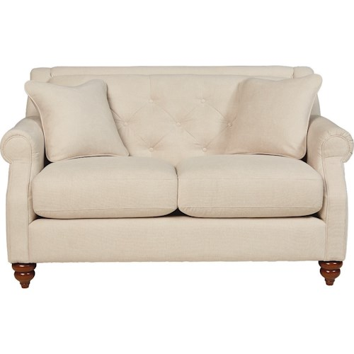 La-Z-Boy Aberdeen Traditional Loveseat with Tufted Seatback