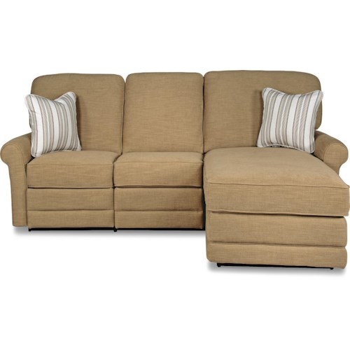 La-Z-Boy Addison Two Piece Reclining Sectional Sofa with RAF Reclining Chaise