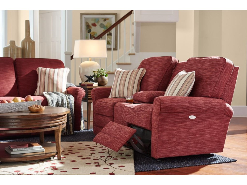 La-Z-Boy AddisonPower La-Z-Time Reclining Loveseat w/Console