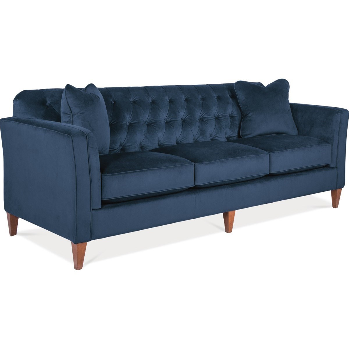 La Z Boy Sofa La-Z-Boy Alexandria Transitional Premier Sofa with Chesterfield Button  Tufting