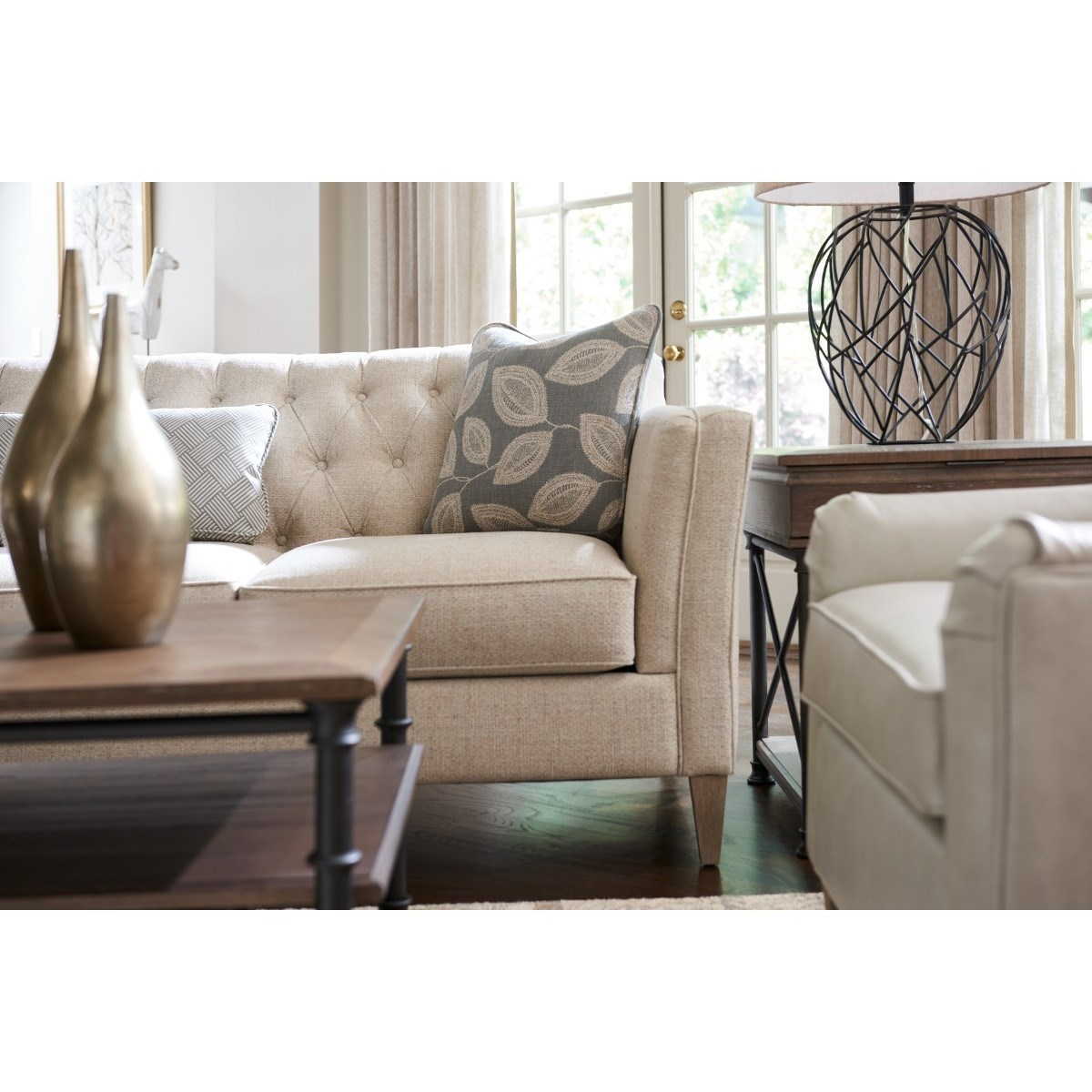La Z Boy Alexandria Transitional Premier Sofa With Chesterfield Button  Tufting | SuperStore | Sofas