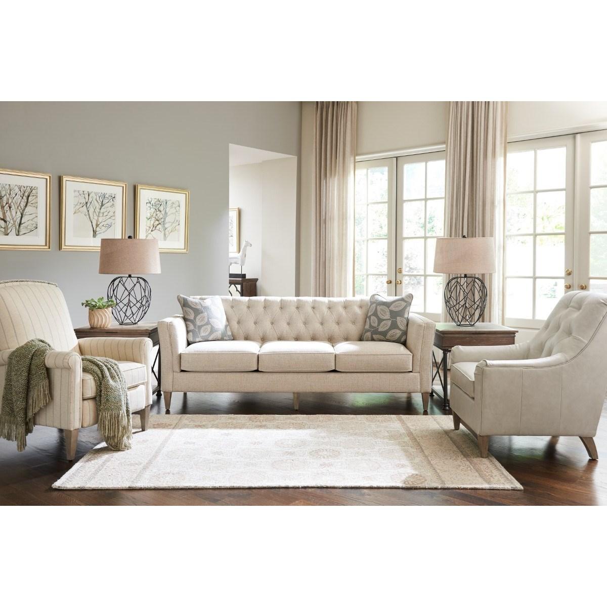 La Z Boy Alexandria Transitional Premier Sofa With Chesterfield Button  Tufting | Lindyu0027s Furniture Company | Sofas