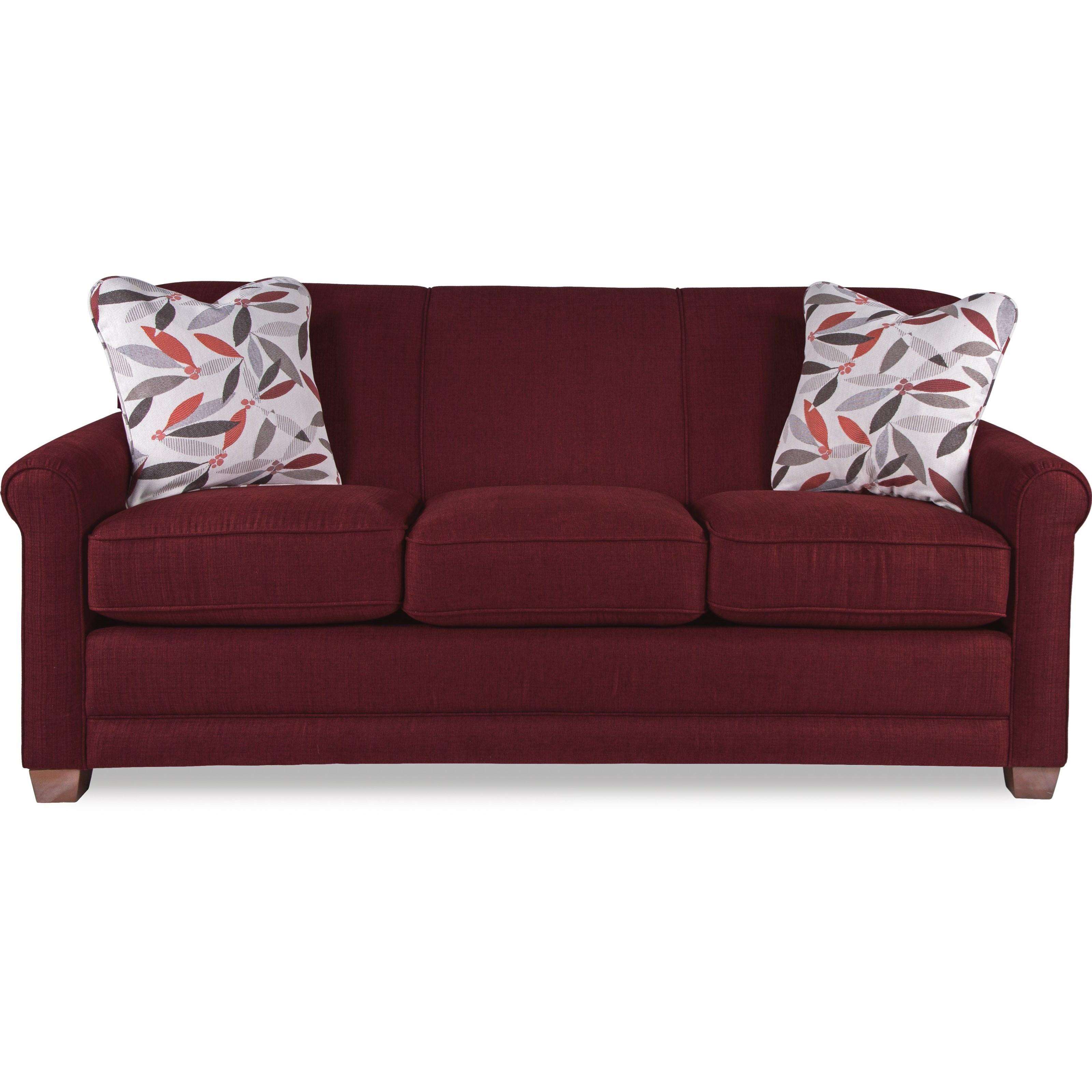 La Z Boy Amanda Casual Sleeper Sofa With Premier ComfortCore Seat Cushions  And SupremeComfort