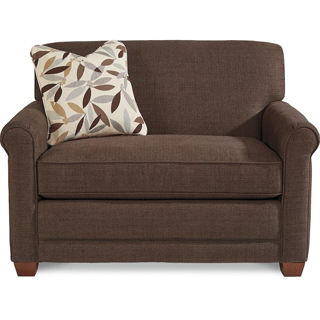 La Z Boy Amanda Casual Twin Mattress Sleeper Chair With Premier