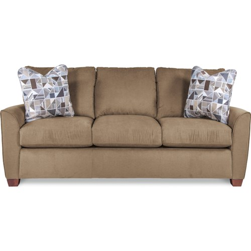 La Z Boy Amy Casual Sofa With Premier Comfortcore Cushions