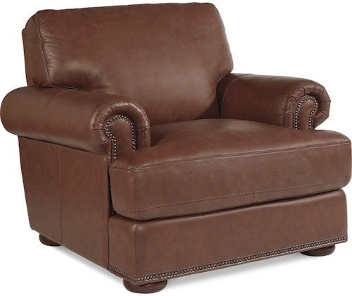 La-Z-Boy Andrew Traditional Stationary Chair with Nailhead Trim