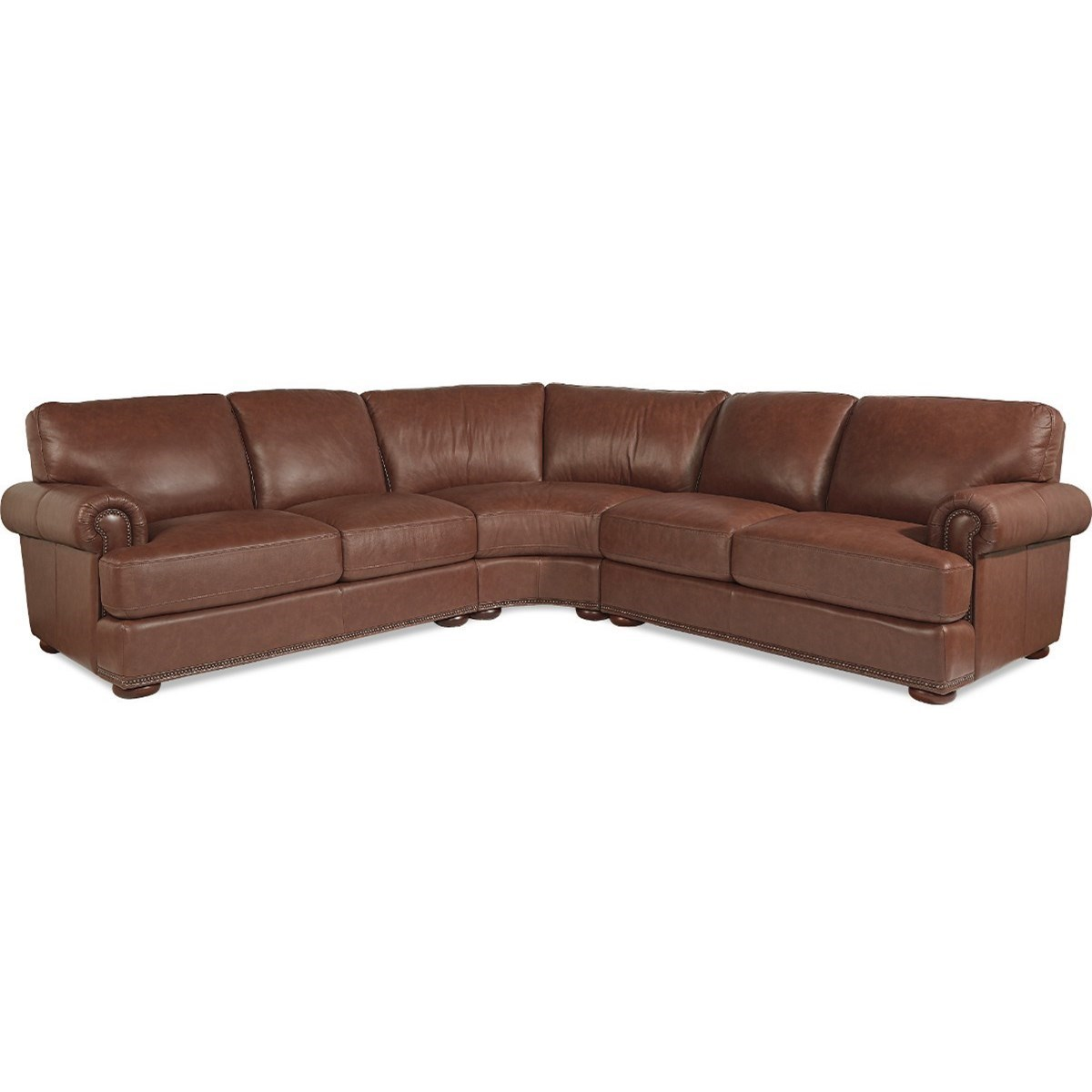 La-Z-Boy Andrew Traditional 3 Piece Sectional with Nailhead Trim - Great American Home Store - Sofa Sectional  sc 1 st  Great American Home Store : sectional lazy boy - Sectionals, Sofas & Couches