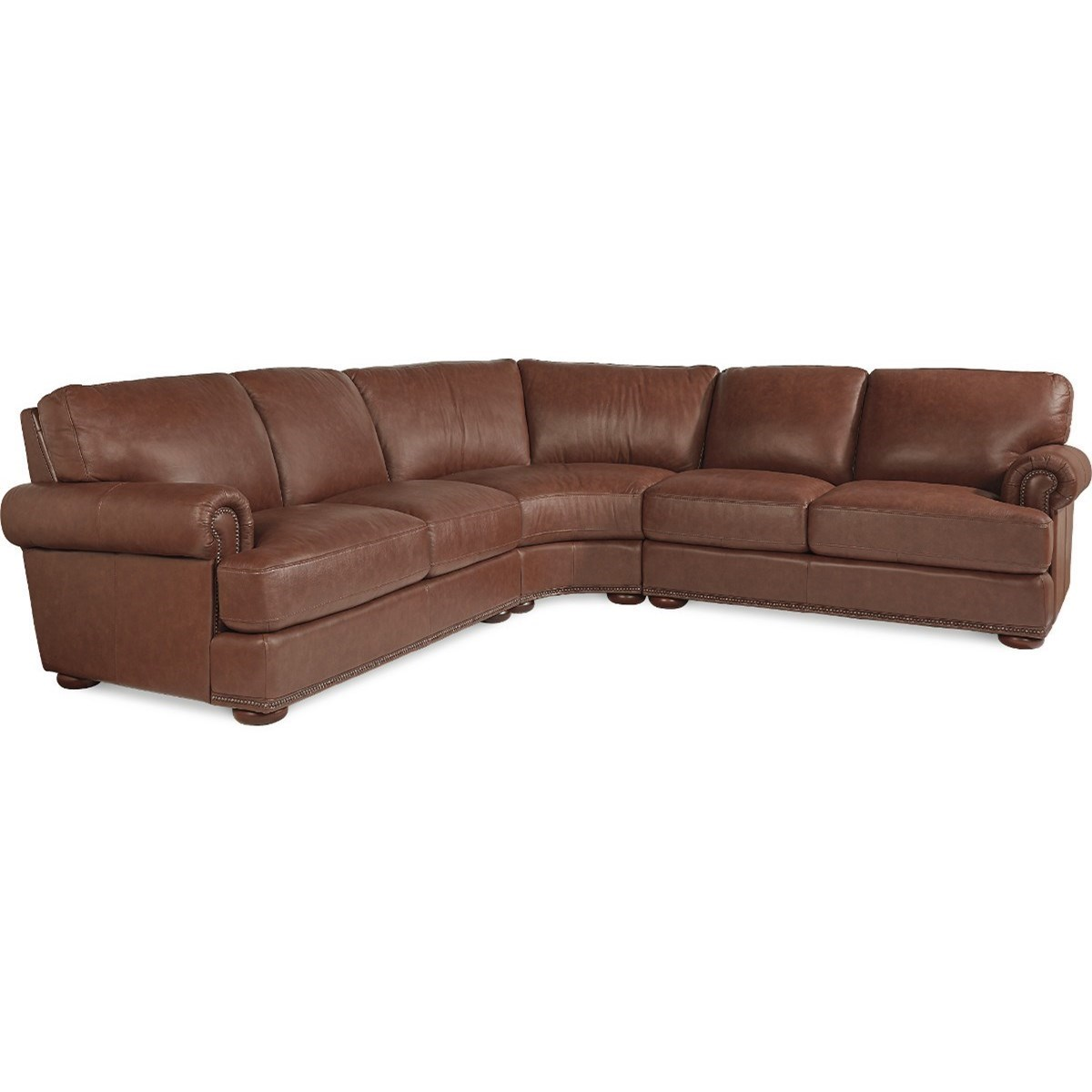 La-Z-Boy Andrew Traditional 3 Piece Sectional with Nailhead Trim  sc 1 st  Great American Home Store : la z boy sectionals - Sectionals, Sofas & Couches
