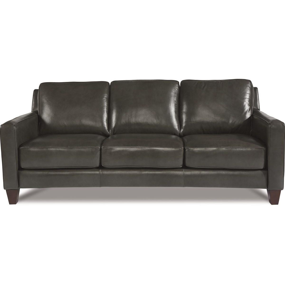 La Z Boy Archer Contemporary Leather Sofa Reid S Furniture Sofas