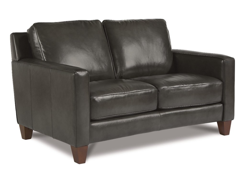 equestrian schoolhouse leather loveseat products black