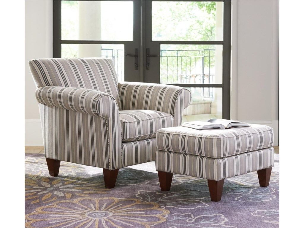 La-Z-Boy AriaTransitional Chair and Ottoman Set