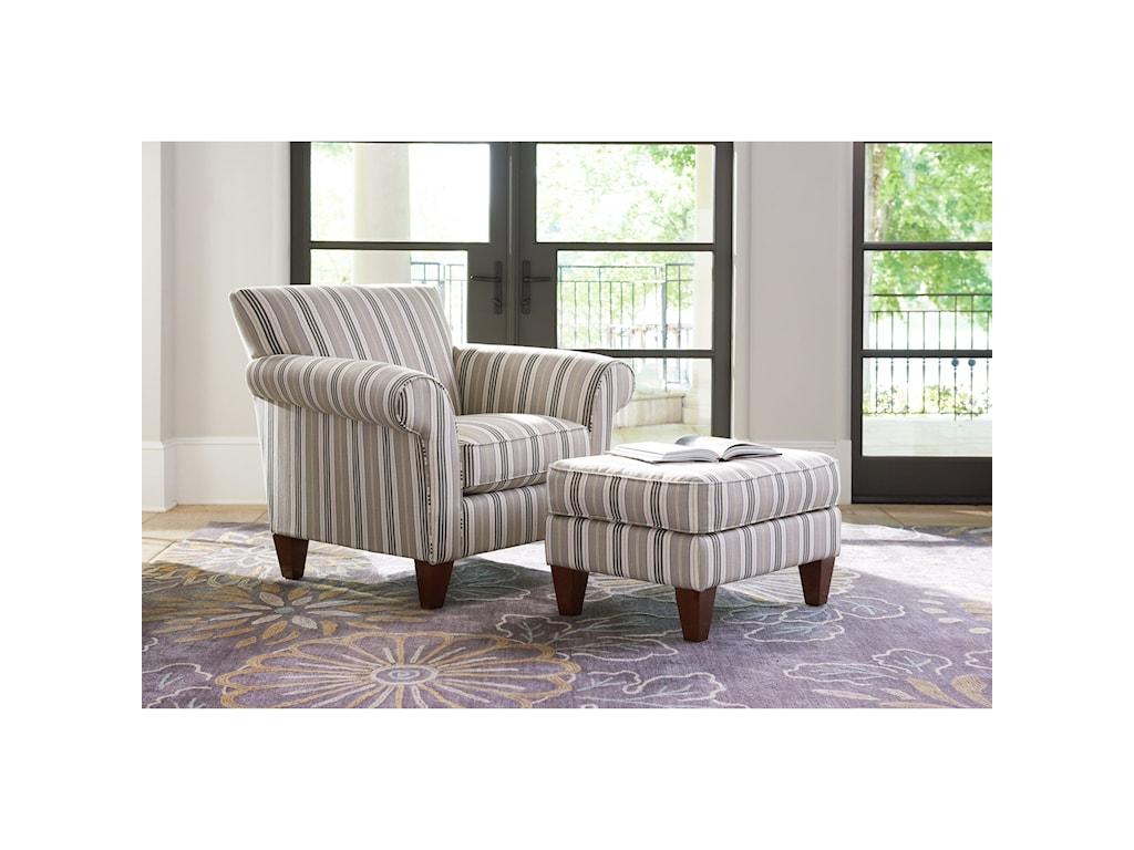 La-Z-Boy AriaTransitional Chair and Ottoman Set