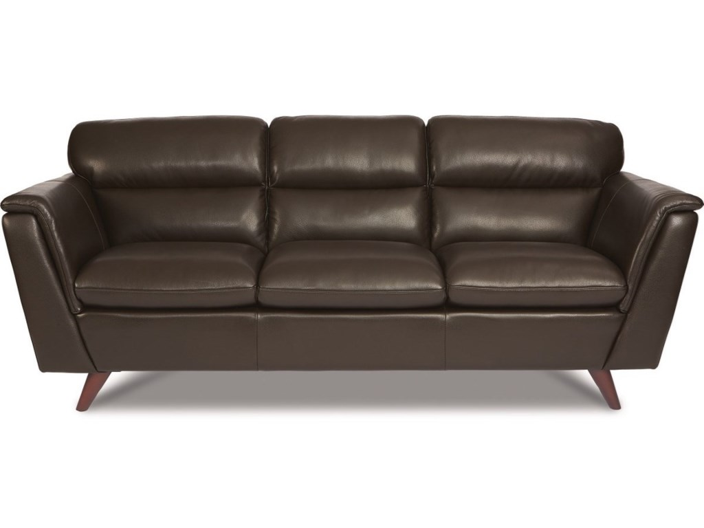 La z boy arrow mid century modern leather sofa morris home sofas