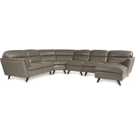 5 Pc Sectional Sofa w/ LAS Chaise