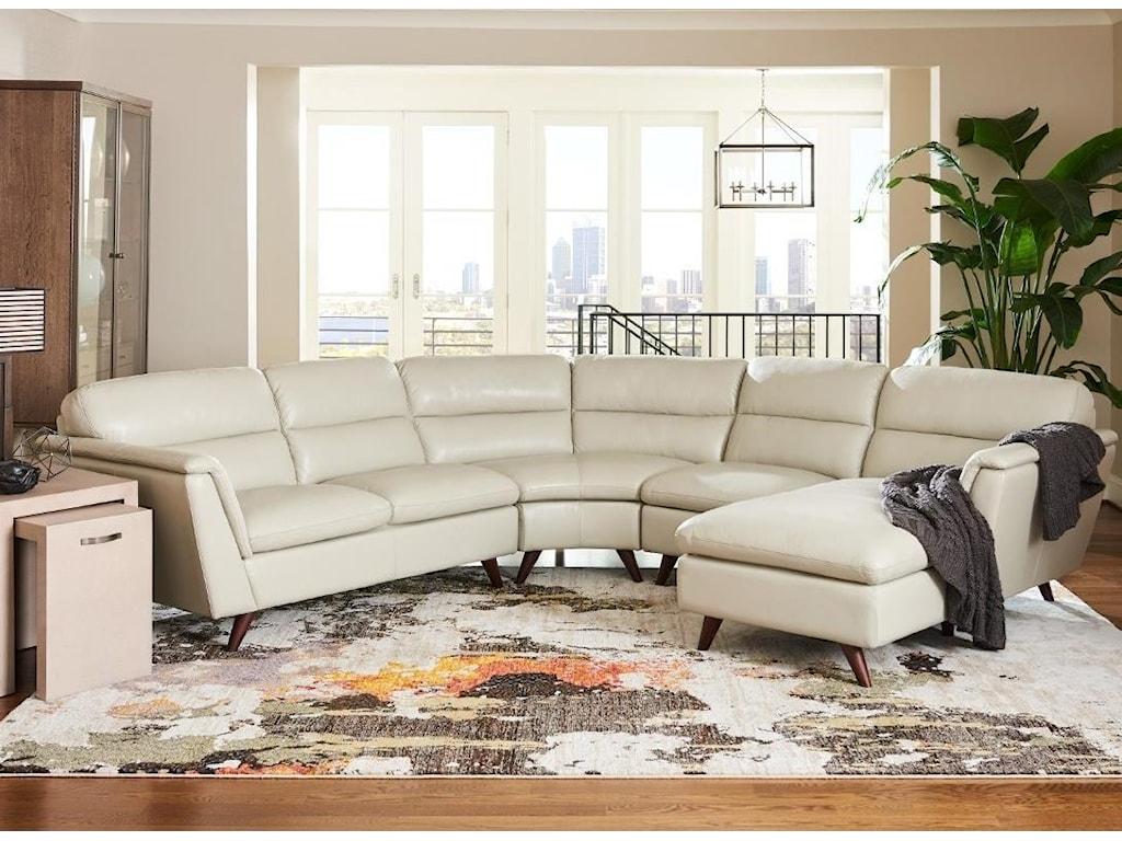 La-Z-Boy Arrow 4 Pc Sectional Sofa with Left Arm Sitting Chaise ...