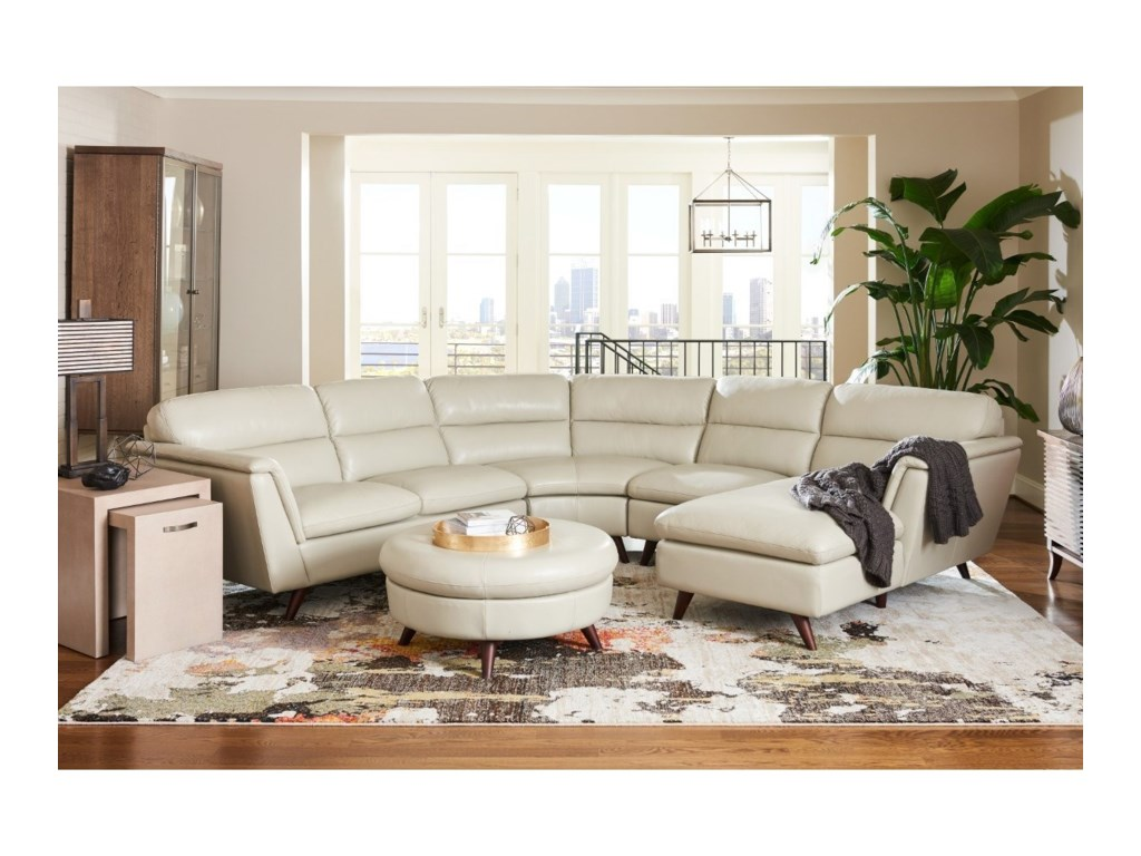 La Z Boy Arrow4 Pc Sectional Sofa W LAS Chaise