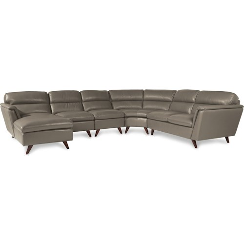 La-Z-Boy Arrow 5 Pc Sectional Sofa with Right Arm Sitting Chaise ...