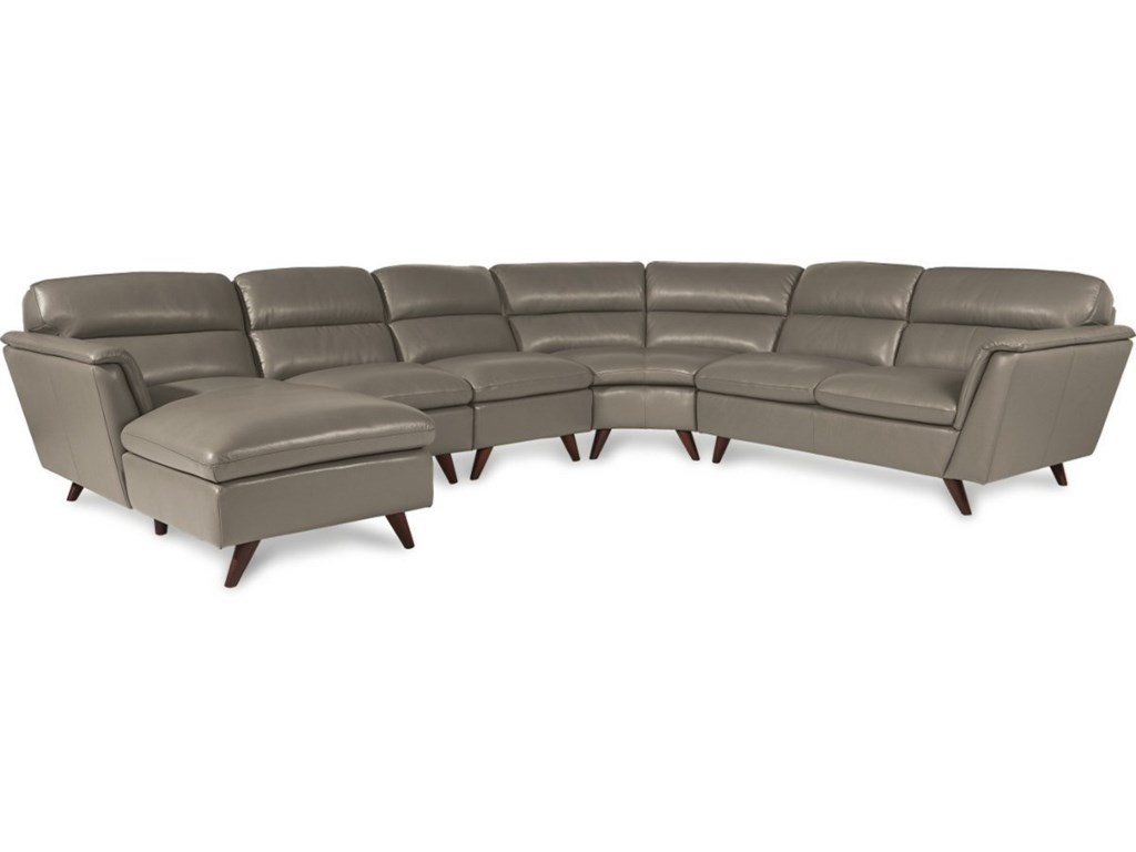 La-Z-Boy Arrow5 Pc Sectional Sofa w/ RAS Chaise