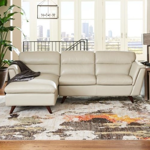 La Z Boy Arrow Two Piece Chaise Sofa With Right Arm Sitting Chaise
