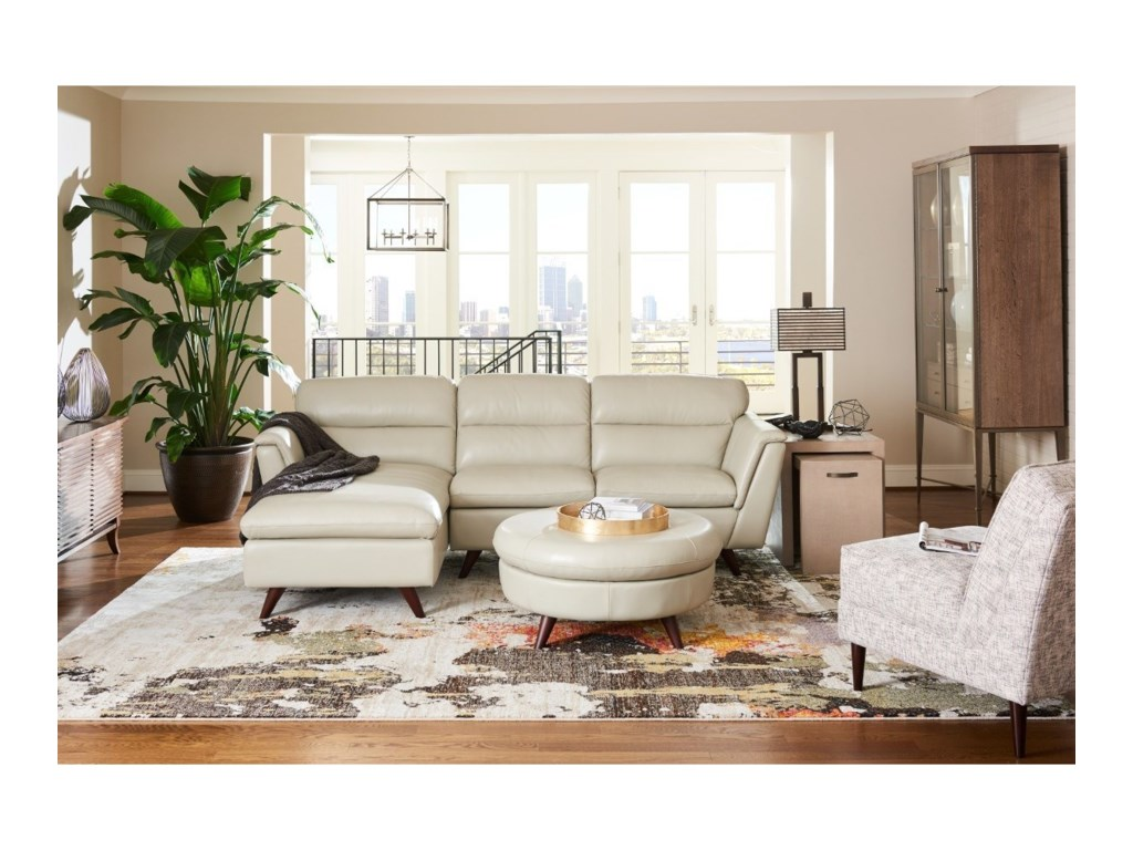 La-Z-Boy Arrow2 Pc Sectional Sofa w/ RAS Chaise