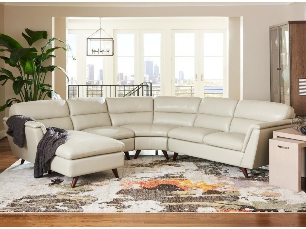 La-Z-Boy Arrow 4 Pc Sectional Sofa with Right Arm Sitting Chaise ...