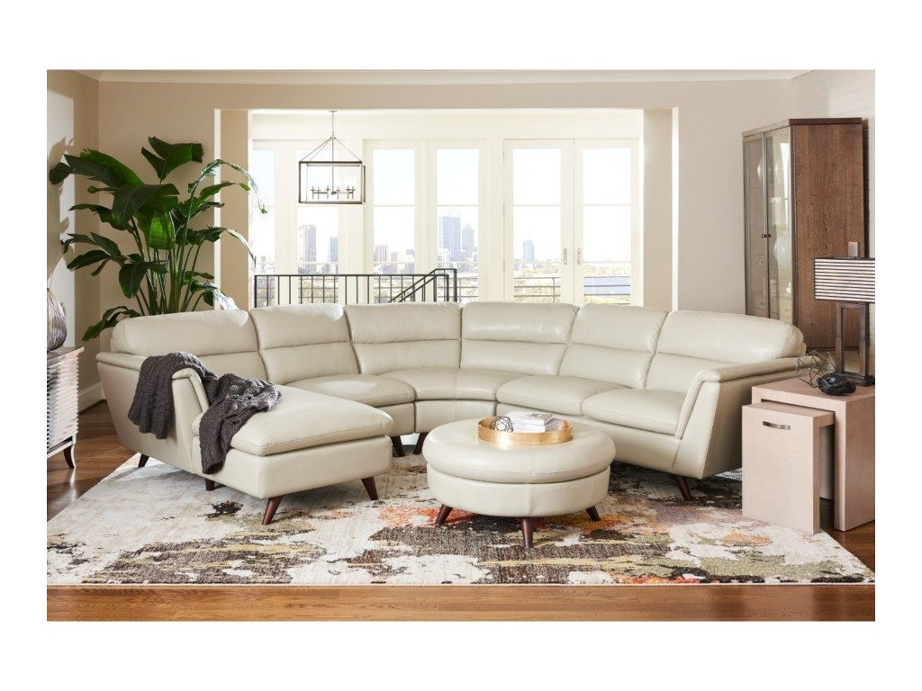 LaZBoy Arrow Pc Sectional Sofa With Right Arm Sitting Chaise - La z boy chaise sofa