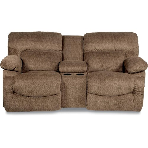La-Z-Boy Shona Casual La-Z-Time® Full Reclining Loveseat with Cupholder Console