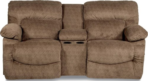 La-Z-Boy ASHER Casual La-Z-Time® Full Reclining Power Loveseat with Cupholder Console