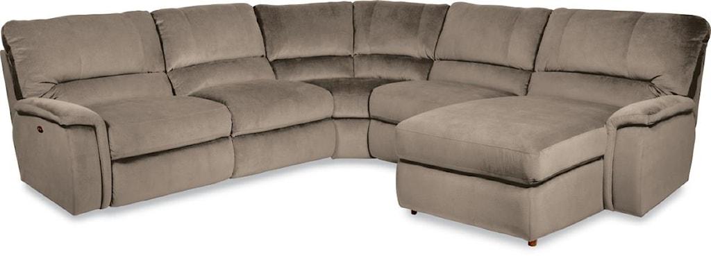 La Z Boy Aspen 40b723 04c 2x40s723 4qq723 Five Piece Reclining  ~ Five Piece Sectional Sofa