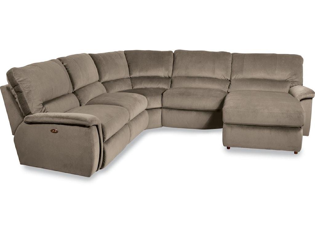 La-Z-Boy ASPEN5 Pc Reclining Sectional Sofa w/ LAS Chaise